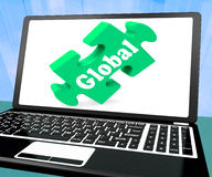 Global Laptop Shows Worldwide International Globalization Connec Stock Photo