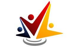 Global Leadership Teamwork Solutions. Logo Design Template Vector Stock Photos