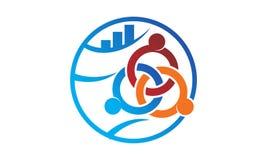 Global Leadership Teamwork Solutions. Logo Design Template Vector Stock Image