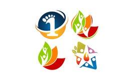 Global Leadership Teamwork Solutions Set. Vector Royalty Free Stock Image
