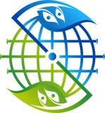 Global leaf logo Stock Images
