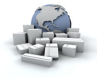 global leverans Arkivbilder
