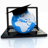 Global On line Education Stock Image