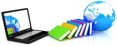 Global on line education Royalty Free Stock Photo