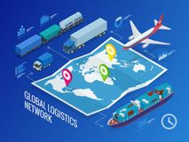 Global logistics network royalty free illustration