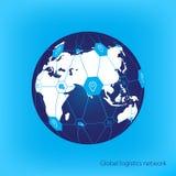 Global logistics network. Map global logistics partnership connection.  White similar world map.  Geo location. Royalty Free Stock Photos