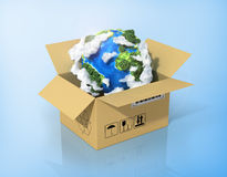 Global logistics, shipping and worldwide delivery business Stock Image