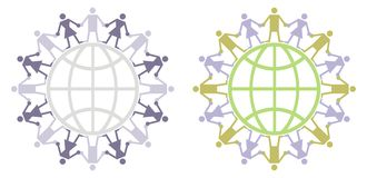 global logo för medborgare Royaltyfria Bilder