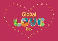 Global Love Day Card Royalty Free Stock Image