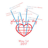 Global Love Day Stock Image