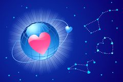 Global love / valentine's or wedding / vector Royalty Free Stock Photography
