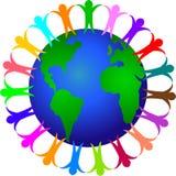 global mångfald eps royaltyfri illustrationer