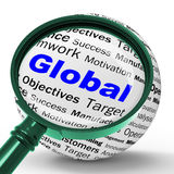 Global Magnifier Definition Means International Communications O Royalty Free Stock Photos