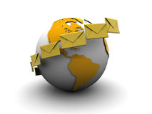 Global mail Stock Image