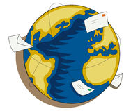 Global mail illustrations Stock Image