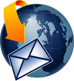 global mailing Royaltyfri Fotografi