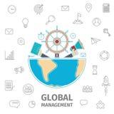 Global Management line art Stock Photography