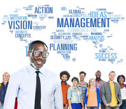 Global Management Training Vision World Map Concept Stock Photography