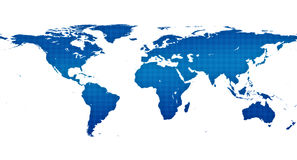 Global Map. Blue world atlas on white background royalty free illustration