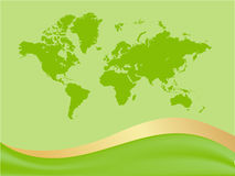 Global map background Stock Image