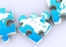 Global map puzzles Stock Images