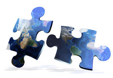 Global map puzzles comunication Stock Images