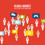 Global market Stock Images