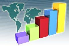 Global Market Penetration Increase. In a generic presentation background royalty free illustration