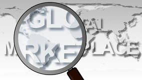 Global Market Place Animation stock video