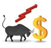 Global market and stock exchange Royalty Free Stock Image
