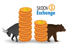 Global market and stock exchange Royalty Free Stock Photos