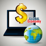 Global market and stock exchange Royalty Free Stock Photography