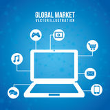 Global marketing Stock Image