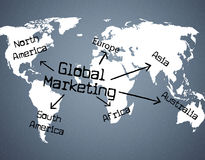 Global Marketing Indicates Planet Globalise And Globalisation Royalty Free Stock Photos