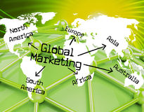 Global Marketing Shows Globalisation Sales And Earth Stock Photo