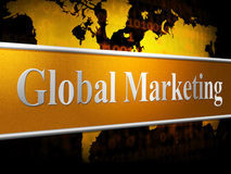 Global Marketing Shows World Sales And Selling Royalty Free Stock Image