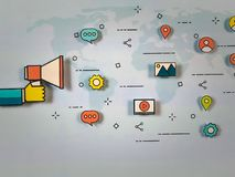 Global marketing strategy. royalty free stock images