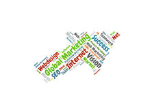 Global Marketing word cloud Stock Images