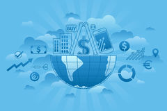 Global Markets blue Royalty Free Stock Photography