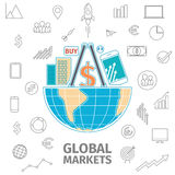 Global Markets concept Stock Image