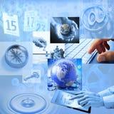 Global marknadsföring för strategiaffär Arkivfoto