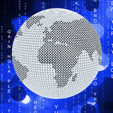 Global Matrix Means Globalize Globalization And Network Royalty Free Stock Image