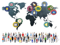 Global Media Social Media International Connection Concept Royalty Free Stock Photography
