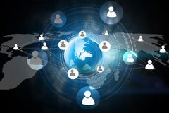 Global media and Social network concept. Stock Image