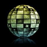 Global Media Technology World Sphere Stock Image