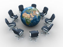 Global meeting Stock Images