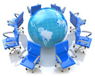 Global meeting concept Stock Images