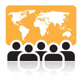 Global meeting sign Stock Image