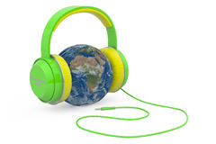 Global Music Headphones Earth Royalty Free Stock Photos