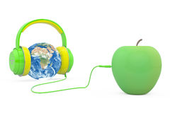 Global Music Headphones Earth Royalty Free Stock Photography